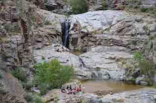 hiking groups at Seven Falls Sabino Canyon by Michael Eskue