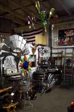 metal and glass art at Midtown Mercantile Merchants