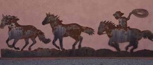 horses running art at White Stallion Ranch
