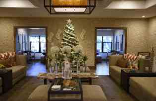 Fairmont Gold Lounge at Christmas