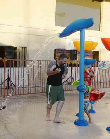 splash pad at Ott Family YMCA Tucson