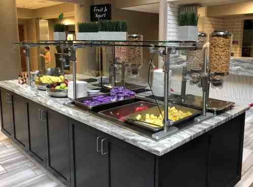 fruit yogurt bar Embassy Suites Irvine