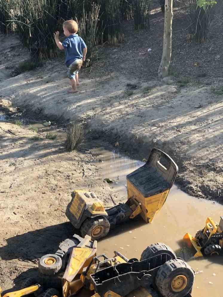 toddler mud Adventure Playground Irvine
