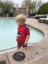 1 year old toddler pool four seasons scottsdale