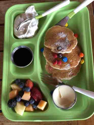 m&m pancakes kids menu proof four seasons scottsdale