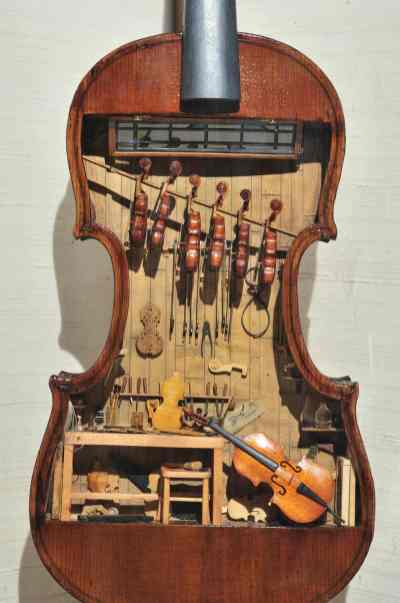 18th Century Violin Makers Shop Foster Tracy Mini Time Machine Museum