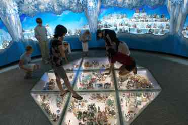 Snow Village Under Glass Mini Time Machine Museum