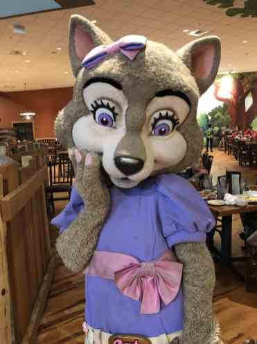 Violet Character Breakfast Great Wolf Lodge