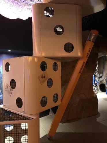 dice pencil packrat playhouse