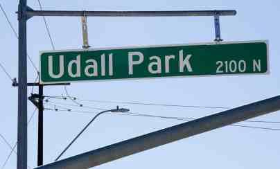 Udall Park street sign