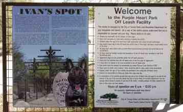 Ivan's Spot Off Leash Facility Purple Heart Park