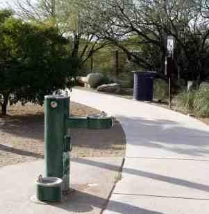 drinking fountain water dog Purple Heart Park