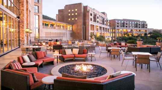 Salud fire pits patio JW Marriott Tucson Starr Pass Resort