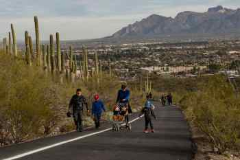family stroller Tumamoc Hill