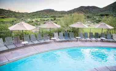 swimming pool lazy river lounge chairs JW Starr Pass Tucson