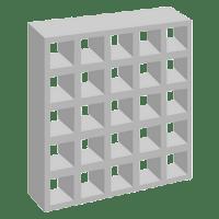 Elemento vazado de concreto 25 Furos Retos