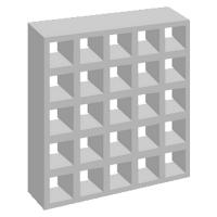 Elemento vazado de concreto 25 Furos Antichuva