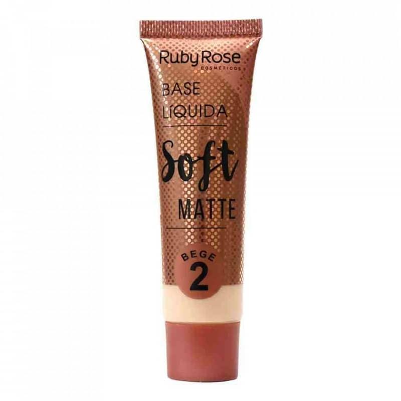 base líquida Soft Matte BEGE da Ruby Rose (cor B02