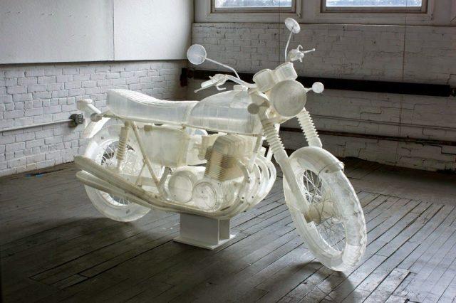 Artista cria réplica de uma Honda CB500 1972 em impressora 3D