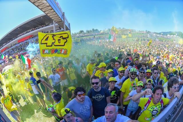 Festa Espanhola no GP da Itália de Motovelocidade