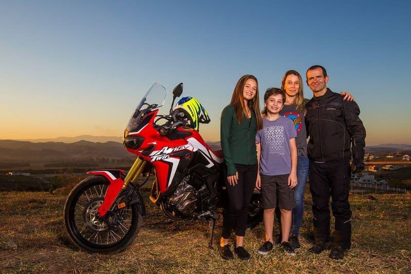 Jean Azevedo e a família