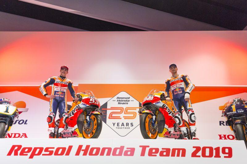 """Repsol Honda mostra seu """"Dream Team"""" para a temporada 2019"""