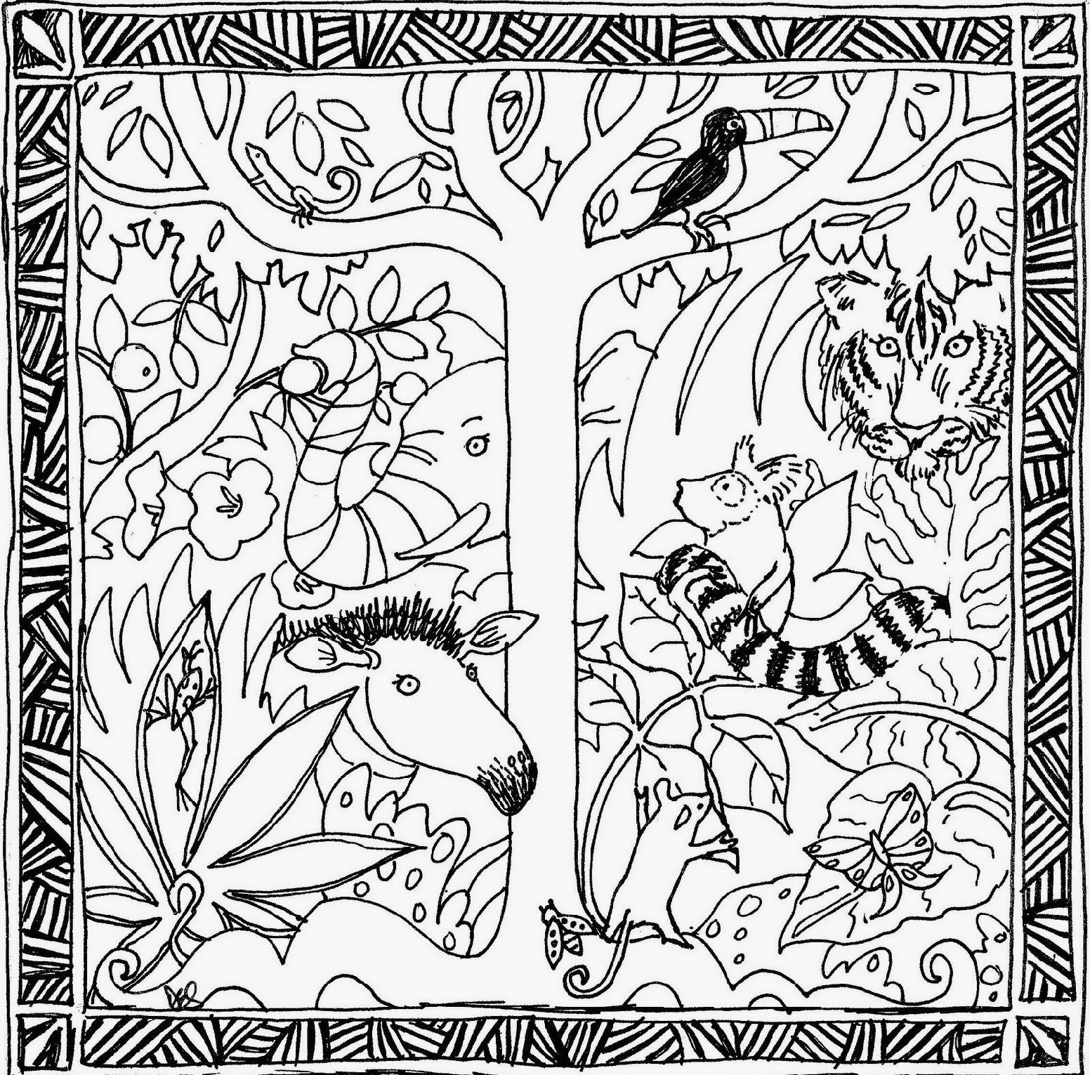 Desenhos Para Colorir De Animais Da Floresta