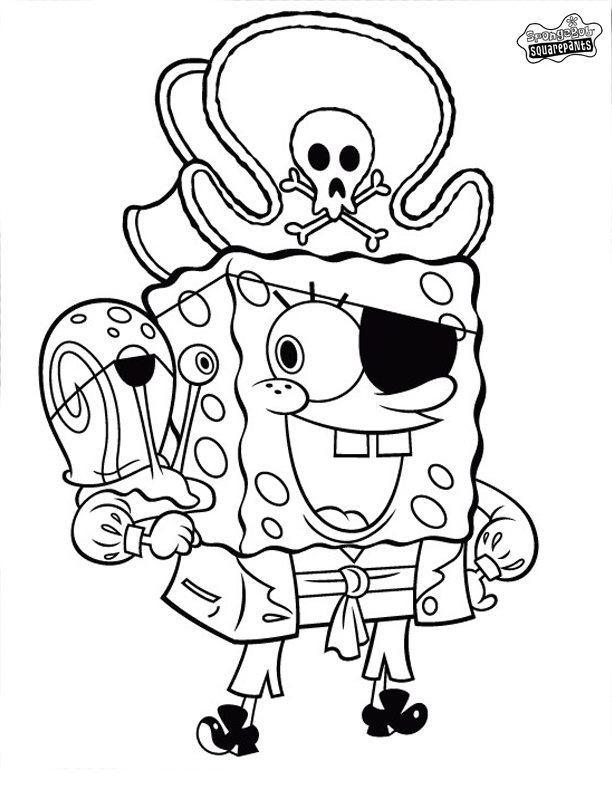 Gary Spongebob Christmas Coloring Pages