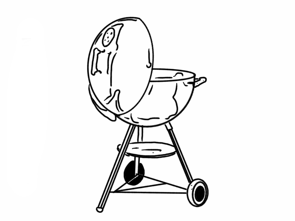 Grill Coloring Pages