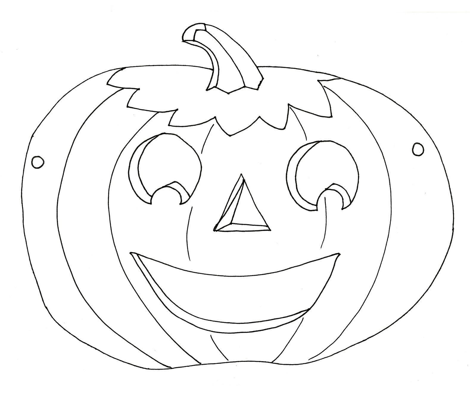 Desenho De Mascara De Abobora Do Halloween Para Colorir