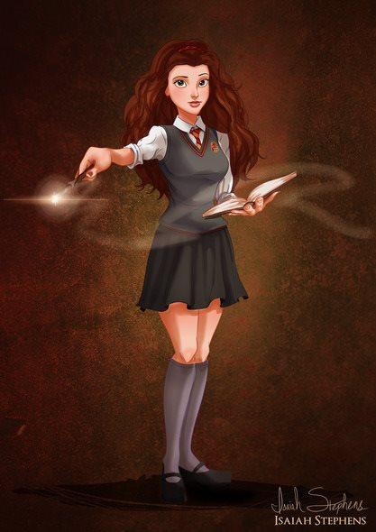 Bela do filme 'A Bela e a Fera', virou Hermione de 'Harry Potter'.