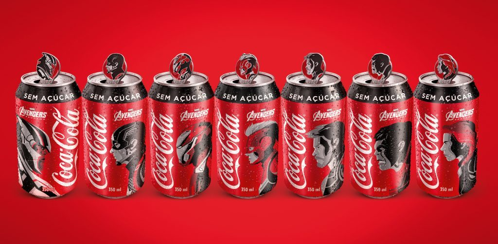 Pin Tabs coca-cola vingadores ultimato