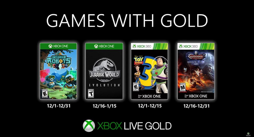Xbox Game with Gold Dezembro