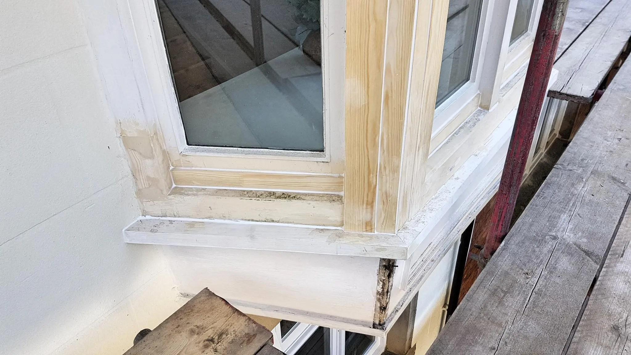 Shotton Hall Rotten Bay Window Repair