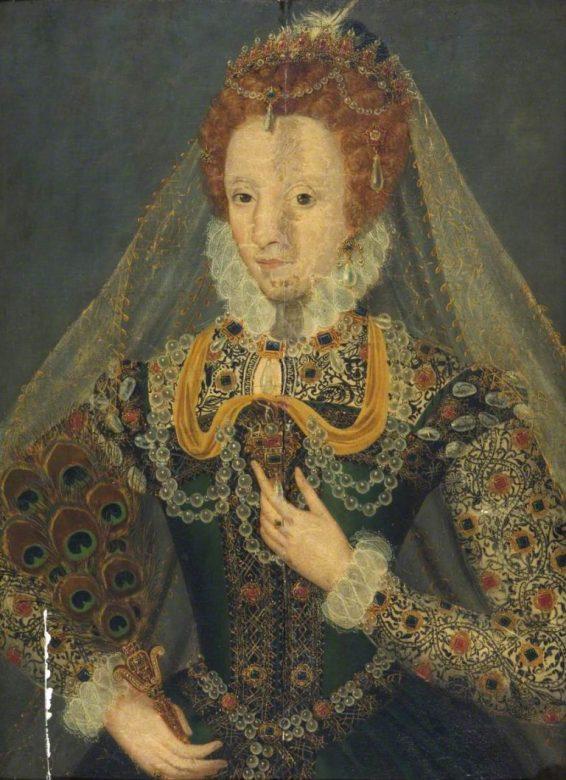 British School; Elizabeth I (1533-1603); Amgueddfa Cymru - National Museum Wales; http://www.artuk.org/artworks/elizabeth-i-15331603-161682