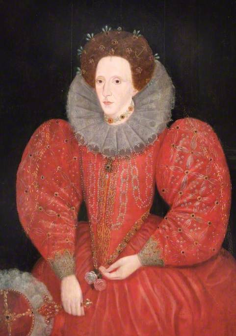 de Heere, Lucas; Queen Elizabeth I (1533-1603); Royal Borough of Windsor and Maidenhead, Civic Collection; http://www.artuk.org/artworks/queen-elizabeth-i-15331603-27485