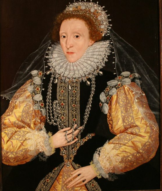Portrait of Queen Elizabeth I, the �Drewe Portrait�, late 1580s. 1580s George Gower, Attributed to d.1596