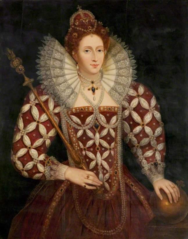 Zuccaro, Federico; Queen Elizabeth I (1533-1603); Warwick Shire Hall; http://www.artuk.org/artworks/queen-elizabeth-i-15331603-55625