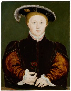 King Edward VI after Hans Holbein the Younger oil on panel, (circa 1542) 17 1/4 in. x 12 1/4 in. (438 mm x 311 mm) Purchased, 1898 Primary Collection NPG 1132