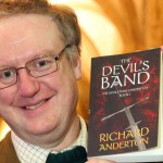T5015107 Richard Anderson with his first novel The Devil's Band The Devilstone Chronicles Book 1