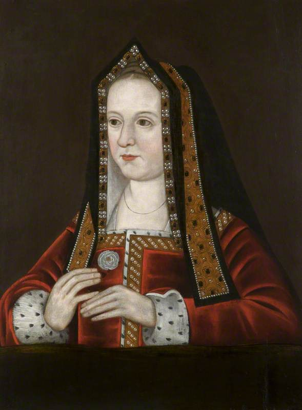 British (English) School; Elizabeth of York (1465/1466-1503), Holding the Yorkist White Rose; National Trust, Dunham Massey; http://www.artuk.org/artworks/elizabeth-of-york-146514661503-holding-the-yorkist-white-rose-130730
