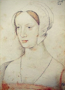 According to Jean Perr�al, Mary Tudor Brandon Florence, Uffizi, Cabinet of Drawings and Prints, inv. 3911 F.