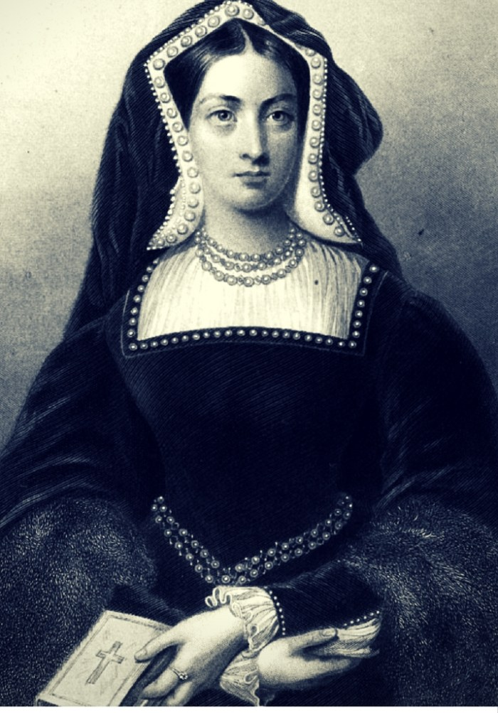 18th Century Engraving of Katherine of Aragon circa 1515
