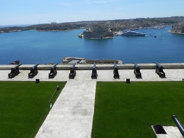 Blick auf den Hafen von Valetta