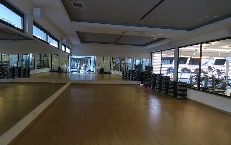 Der Sportraum im Sunprime C Lounge Hotel und der Fitnesstraum.