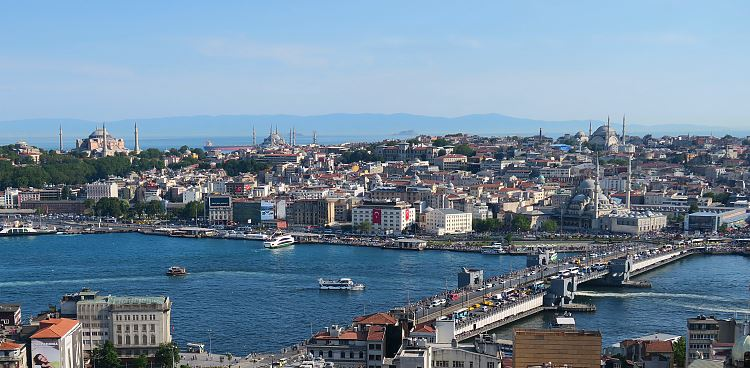 Istanbuls Altstadt Sultanahmet und Eminönü.