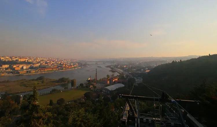 Seilbahn auf den Pierre Loti Hügel und das Goldene Horn