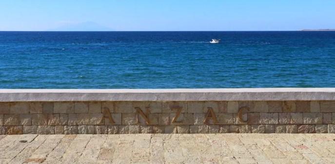 Ausblick Richtung Griechenldand von der ANZAC Bay in Gallipoli in der Türkei