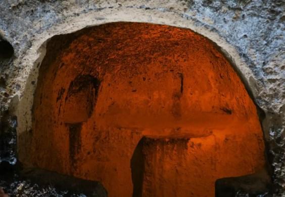 Kirchennische in einer Höhlenstadt