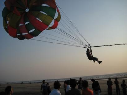 Ashwini (I think) takes flight